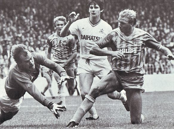 huddersfield home 1984 to 85 baker goal