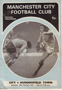huddersield home 1971-72 programme