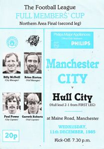 hull home members cup 1985 to 86 progl
