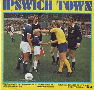 ipswich away 1976 to 77 prog