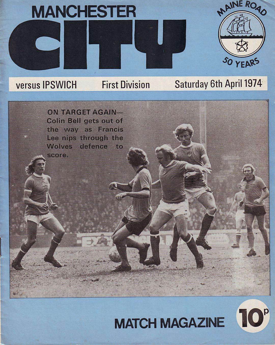 ipswich home 1973 to 74 prog