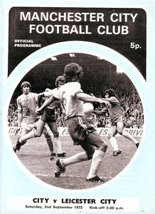 leicester home 1972-73 programme