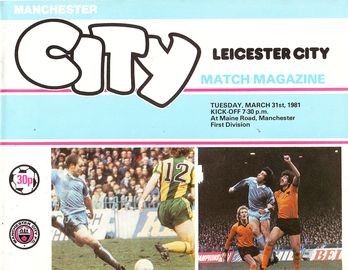 leicester home 1980 to 81 prog