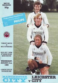 leicester home 1985 to 86 prog