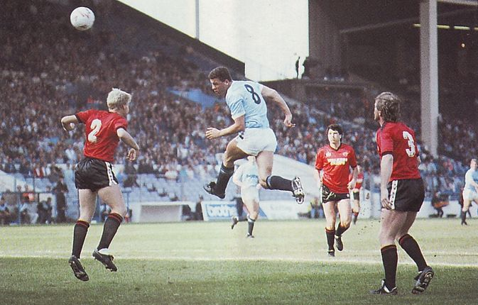 leicester home 1987 to 88 stewart makes it 1-1