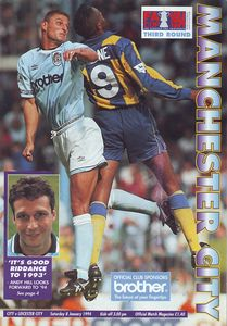 leicester home fa cup 1993 to 94 prog