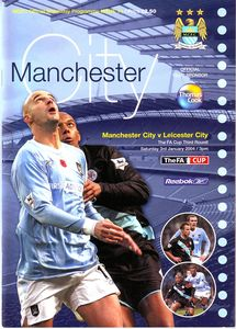 leicester home fa cup 2003 to 04 prog