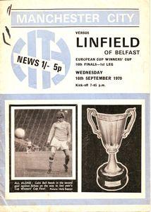 linfield home 1970-71 programme