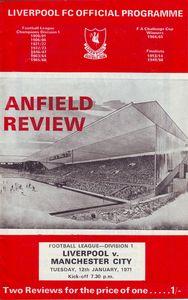 liverpool away 1970-71 programme