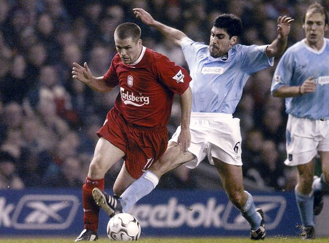 liverpool away 2003 to 04 action