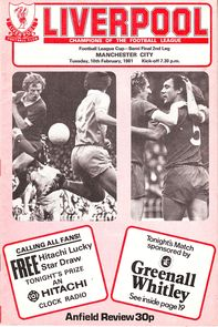liverpool away league cup 1980 to 81 prog