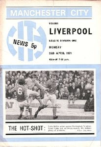 liverpool home 1970-71 programme