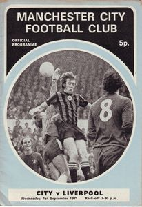 liverpool home 1971-72 programme.