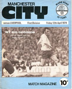 liverpool home 1973 to 74 programme