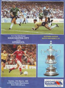liverpool home fa cup 1987 to 88 prog