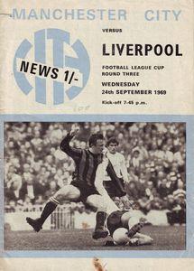 liverpool home leagur cup 1969-70 - programme