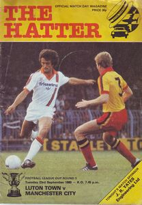 luton away 1980 to 81 league cup prog