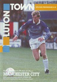 luton away 1990 to 91 prog