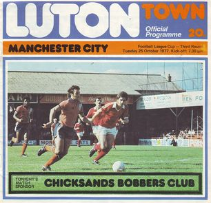luton away league cup 1977 to 78 prog