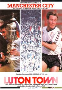 luton away littlewoods cup 1988 to 89 prog