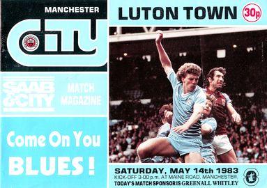 luton home 1982 to 83 prog