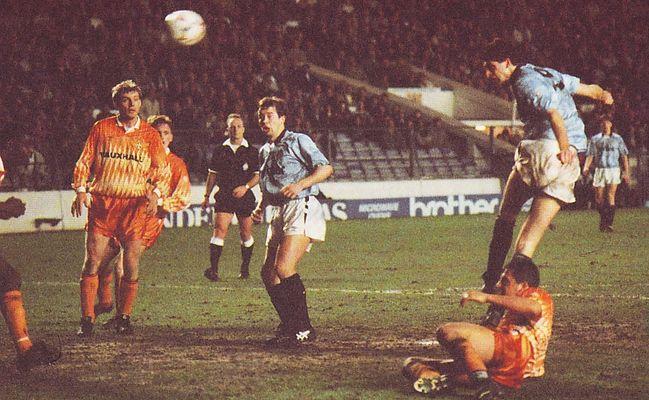 luton home 1990 to 91 quinn citys 3rd goal