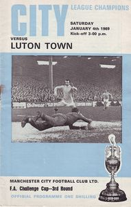 luton home fa cup 1968 to 69 pro