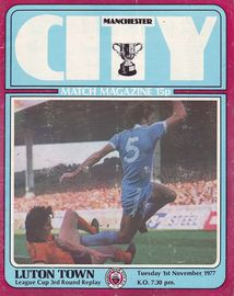 luton home league cup replay 1977 to 78 prog