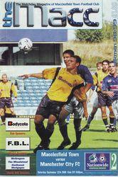 maclesfield away 1998 to 89 prog
