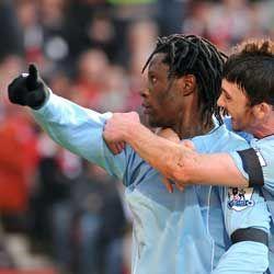 man u away 2007 to 08 benjani goal 4