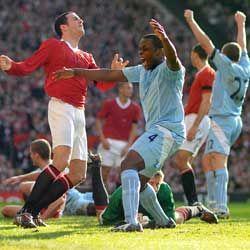 man u away 2007 to 08 benjani goal