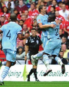 man united charity shield 2011 to 2012 dzeko goal