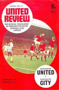 man utd away 1969-70 programmea