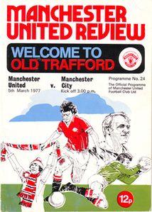 man utd away 1976 to 77 prog