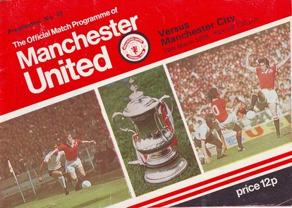 man utd away 1977 to 78 prog