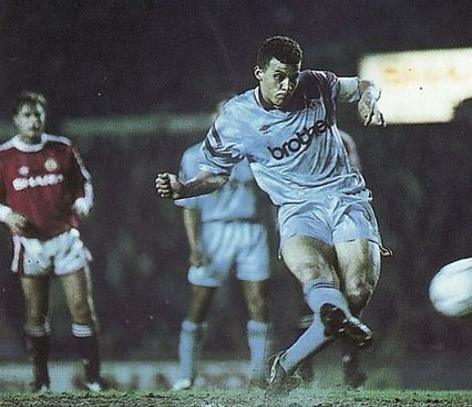 man utd away 1991 to 92 curle pen goal