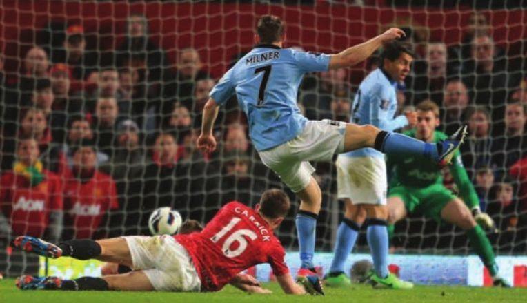 man utd away 2012 to 13 milner goal