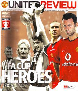 man utd away fa cup 2003 to 04 prog