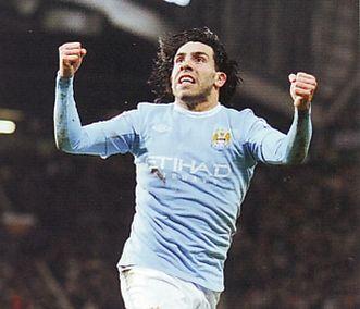 man utd away league cup semi 2009 to 10 tevez goal