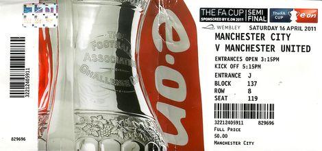 man utd fa cup 2010 to 11 ticket