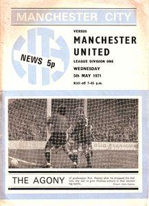man utd home 1970-71 programme
