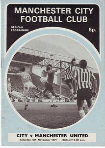 man utd home 1971-72 prog