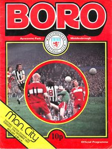 middlesbrough away 1977 to 78 prog
