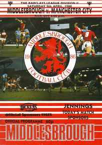 middlesbrough away 1987 to 88 prog