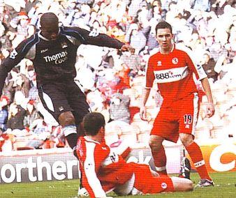 middlesbrough away 2006 to 07 distin goal