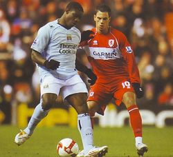 middlesbrough away 2008-09 action