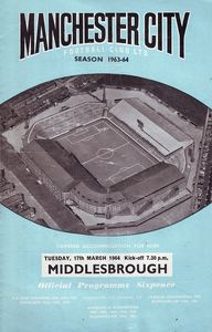 middlesbrough home 1963 to 64 prog