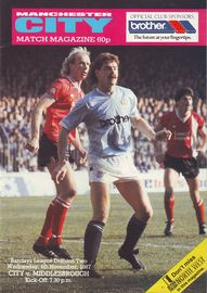 middlesbrough home 1987 to 88 prog