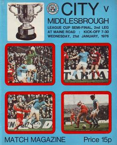 middlesbrough home league cup 1975 to 76 proga
