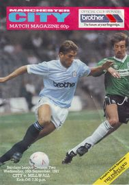 millwall home 1987 to 88 prog
